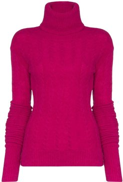 long-sleeved knitted jumper - PINK