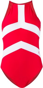 high-neck Nordic swimsuit - Red