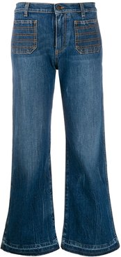 cropped flare jeans - Blue