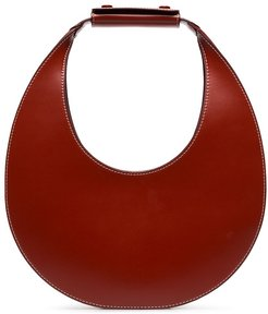 Red Moon leather shoulder bag - Brown