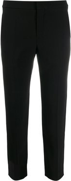 slim-fit cropped trousers - Black