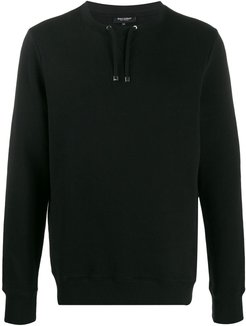 drawstring sweatshirt - Black