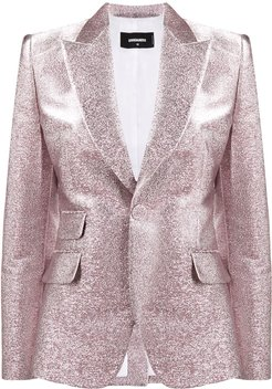 glitter single breasted blazer - PINK