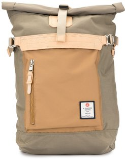 foldover top backpack - Brown