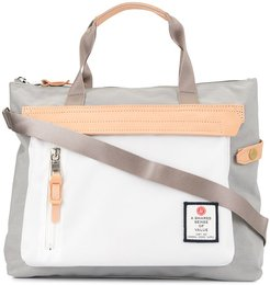 contrast panel tote - Grey