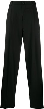 wide-leg tailored trousers - Black