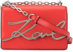 K/Signature small shoulder bag - Red