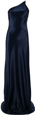 metallic evening dress - Blue