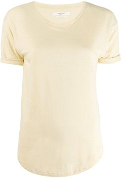 short-sleeve fitted top - Yellow