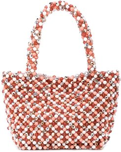 beaded tote bag - PINK