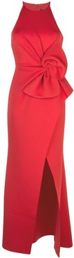 empire line bow dress - Red