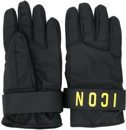 Icon print gloves - Black