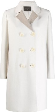 double breasted coat - NEUTRALS
