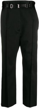 belted tailored trousers - Black