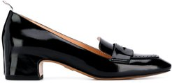 Nipped Toe Penny Loafer - Black
