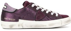 PM/78 EDT metallic sneakers - PURPLE