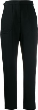 high-waisted trousers - Black