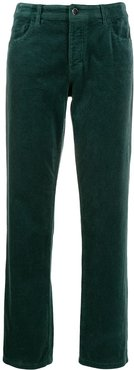 straight cut trousers - Green