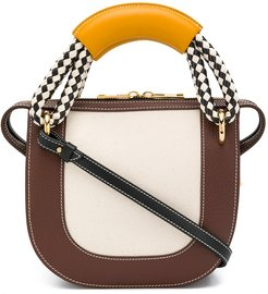 paneled shoulder bag - Brown