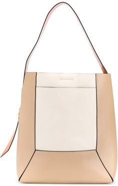 Nemo colour-block panel tote - NEUTRALS