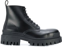 Strike lace-up boots - Black