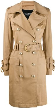 belted trench coat - NEUTRALS