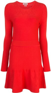 fitted midi dress - Red