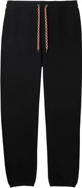 embroidered logo track trousers - Black