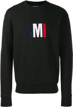 Big Ami Embroidered Sweatshirt - Black