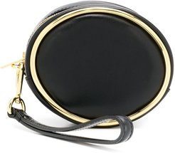 halo clutch bag - Black