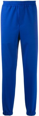tapered track pants - Blue
