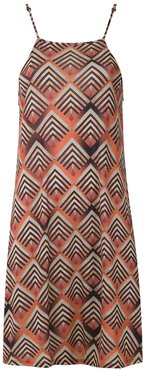 Iris printed dress - ORANGE