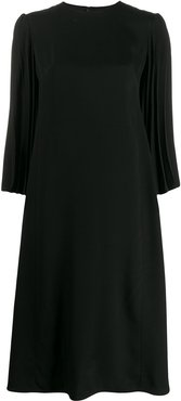 double-faced pleated dress - Black