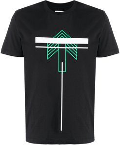 graphic print T-shirt - Black