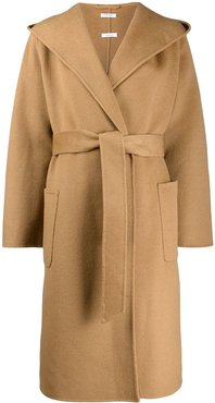 oversized collar trench coat - Brown