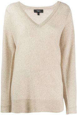 knitted cashmere jumper - NEUTRALS