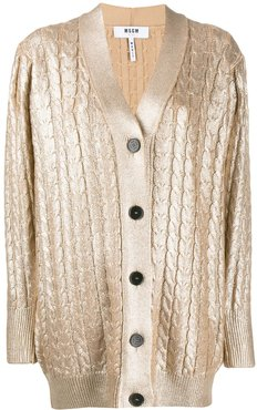 cable knit cardigan - GOLD