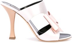 bow-tie mules - PINK