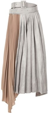 asymmetric pleated skirt - Grey