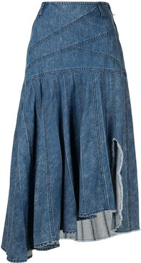 asymmetric denim skirt - Blue