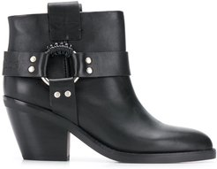 western ankle boots - Black