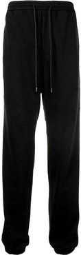 rear panel track trousers - Black