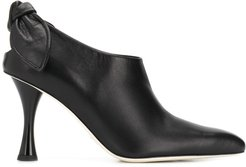 bow tie boots - Black