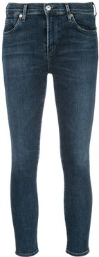 cropped skinny jeans - Blue