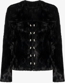 Ryder faux fur fitted jacket
