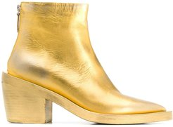 metallic ankle boots - GOLD