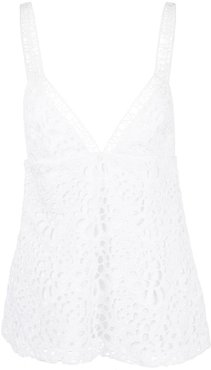 broderie anglaise camisole - White