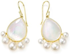 18kt yellow gold Nova pearl drop earrings
