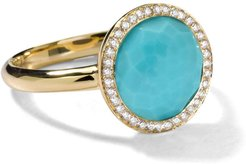 18kt yellow gold small Lollipop turquoise and diamond ring