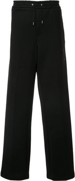 drawstring wide trousers - Black